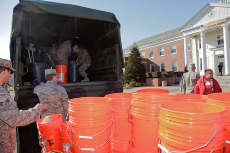 National Guard reacting during Sandy recovery