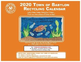2020 Recycling Calendar Cover Page