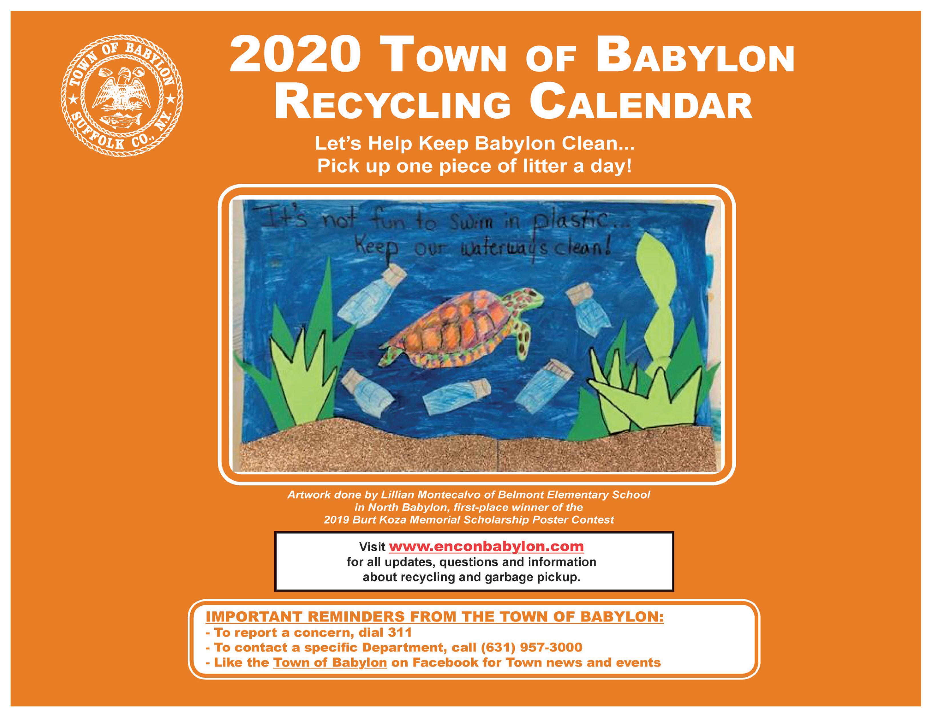 2020 Recycling Calendar | Babylon, NY   Official Website